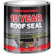 Ronseal 30142 Thompsons High Performance Roof Seal Black 1 Litre RSLHPRS1L
