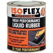 Ronseal 32998 Isoflex Liquid Rubber Black 750ml RSLILR750