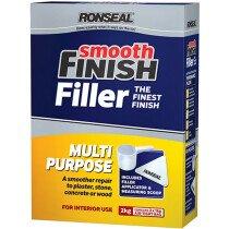 Ronseal 36550 Smooth Finish Multi Purpose Interior Wall Powder Filler 2kg RSLMPPF2KG