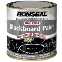 Ronseal 35227 One Coat Blackboard Paint 250ml RSLOCBBP250