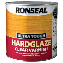 Ronseal RSLUTV25L Ultra Tough Hardglaze Internal Clear Varnish 2.5 Litres