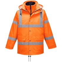 Portwest RT63 Hi-Vis Breathable Traffic Jacket (Interactive) High Visibility - Orange