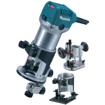 Makita RT0700CX2 110V Combination Router/Trimmer + Bases 700W