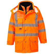 Portwest RT27 Hi-Vis 7-in-1 Traffic Jacket RIS - Orange