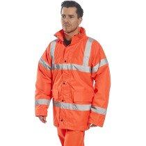 "Portwest RT30 Hi-Vis Orange Traffic Jacket - XXL (50""-52"" Chest) Clearance Size Only"