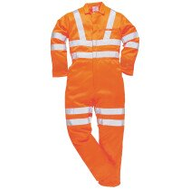 Portwest RT42 (R) High Visibility Poly-cotton Coverall RIS - Orange - Regular Leg Length