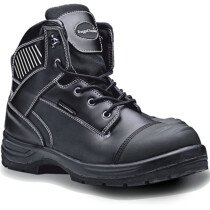 Rugged Terrain RT820B Black Waterproof Derby Leather Boot with Scuff Cap S3 WRU HRO SRC