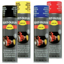 Rustoleum 2100 RAL Hard Hat Topcoat 500ml Aerosol Spray Paint Pack of 6 - Light Grey RAL 7035