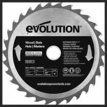 Evolution HTC210WRAGE RAGE® Wood Cutting Circular Saw Blade 210 x 25.4mm x 30T
