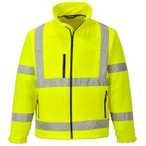 Portwest S424 Hi-Vis Classic Softshell Jacket (3 Layer) - Available in Yellow or Orange