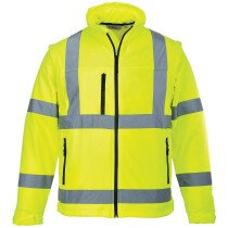 Portwest S428 Hi-Vis Softshell Jacket - Available in Yellow or Orange