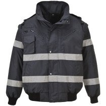 Portwest S435 Iona 3 in 1 Bomber Jacket Rainwear - Available in Black & Navy Blue
