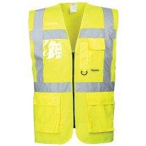 Portwest S476 Hi Vis Berlin Executive Vest High Visibility - Yellow