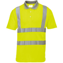 Portwest S477 Hi-Vis Short Sleeve Polo High Visibility - Yellow