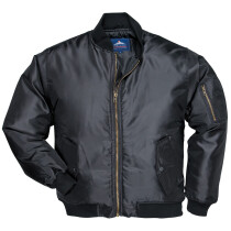 Portwest S535 Pilot Jacket Security Rainwear - Black