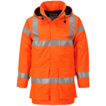 Portwest S774 Bizflame Rain Hi-Vis Multi Lite Jacket Flame Resistant - Available in Orange or Yellow