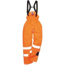Portwest S780 Flame Resistant Bizflame Rain Unlined Hi-Vis Antistatic FR Trouser - Available in Orange or Yellow