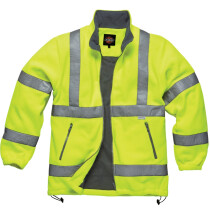 Dickies SA22032 High Visibility Fleece Jacket Lined Yellow