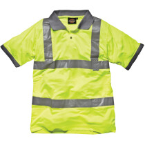 Dickies SA22075 High Visibility Safety Polo Shirt Hi-Vis Yellow SA22075