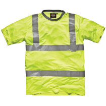 Dickies SA22080 High Visibility Safety T-Shirt Yellow SA22080