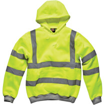 Dickies SA22090 High Visibility Safety Hooded Sweatshirt