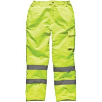 """Dickies SA35015 Hi Vis Poly-Cotton Work Trousers High Visibility - Yellow - MEDIUM (33""""-35"""" Waist) - Clearance Item"""