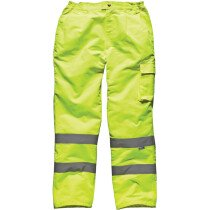 """Dickies SA35015 Hi Vis Poly-Cotton Work Trousers High Visibility-( LARGE Waist 36""""-38"""") - Yellow"""
