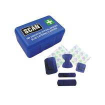Scan SCAFAPLACAT Hydroscopic Blue Plasters 100 Assorted