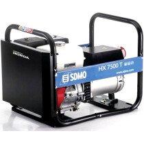 SDMO HX 7500 T-2 Recoil Start Petrol Generator 7.5kVA Honda 4 Stroke Engine HX7500 T2