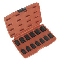 """Sealey AK5613M Impact Metric Socket Set 13 Piece 1/2"""" Drive"""
