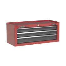 Sealey AP22309BB Add-On Chest 3 Drawer with Ball Bearing Runners - Red/Grey