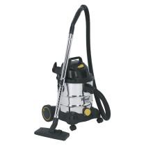 Sealey PC200SD110V Vacuum Cleaner Industrial Wet/Dry 20ltr 1250W/110V Stainless Bin