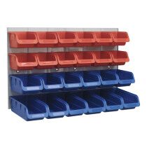 Sealey TPS132 Bin & Panel Combination 24 Bins - Red/Blue