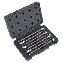 """Sealey AK2188 Ball-End Hex Bit Socket Set 3/8"""" Drive 7 Piece"""