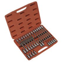 "Sealey AK2194 TRX-Star (Torx type) Bit Socket Set 32 Piece 1/2"" Drive"