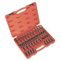 """Sealey AK2195 Spline Bit Socket Set 26 Piece 1/2"""" Drive"""