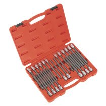 "Sealey AK2197 TRX-Star/Spline/Hex/Ribe Socket Bit Set 22 Piece 1/2"" Drive 200mm"