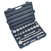 "Sealey AK2582 Socket Set 26 Piece 3/4"" Drive MM/AF"