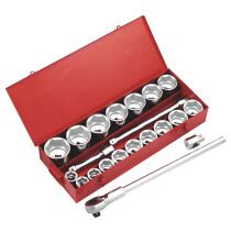 "Sealey AK261 Socket Set 22 Piece 1"" Drive Metric/Imperial"