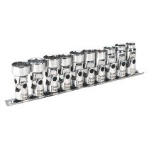 "Sealey AK2710 Universal Joint Socket Set WallDrive 10 Piece 3/8"" Drive Metric"