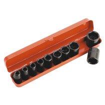 """Sealey AK56/11M Impact Metric Socket Set 10 Piece 1/2"""" Drive"""
