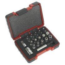 """Sealey AK6226 TRX-P & Security TRX-TS Bit Set 23 Piece 1/4"""" & 3/8"""" Drive"""