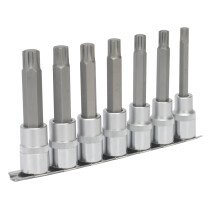 "Sealey AK6235 Ribe Socket Bit Set 7 Piece 1/2"" Drive"