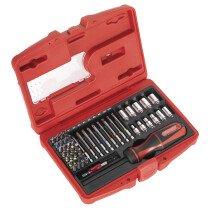 Sealey AK64903 Fine Tooth Ratchet Screwdriver & Accessory Set 51pc