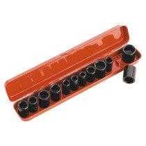 """Sealey AK682 Impact Socket Set 12 Piece 3/8"""" Drive Metric/AF"""