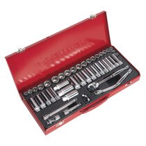 "Sealey AK692 Socket Set 45 Piece 3/8"" Drive MM/AF"