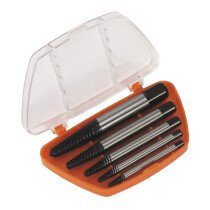 Sealey AK722 Screw Extractor Set 5 Piece Helix Type