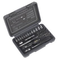 "Sealey AK7949 Socket Set 40 Piece 1/4"" Drive 6pt WallDrive Metric"