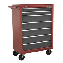 Sealey AP22507BB Rollcab 7 Drawer with Ball Bearing Runners - Red/Grey