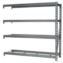 Sealey AP6572E Heavy-Duty Racking Extension Pack with 4 Mesh Shelves 900kg Limit Per Shelf